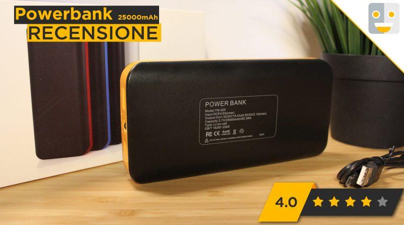 Un Power Bank inesauribile – 25000 mAh di pura potenza RECENSIONE Grandbeing